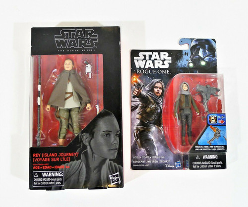 Star Wars The Black Series 58 Rey Island Journey and Rogue One Sergeant Jyn NEW