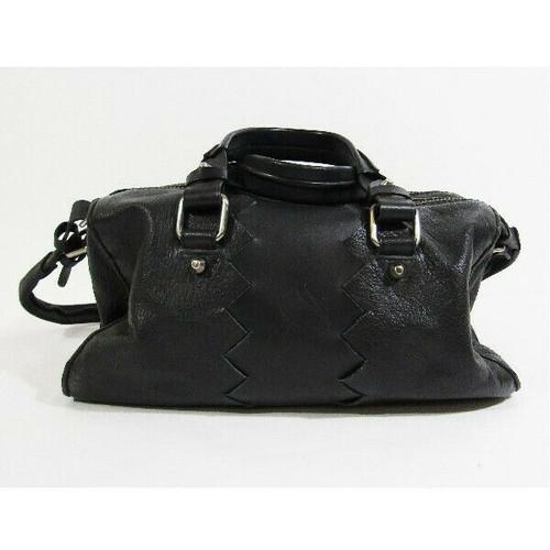 Pour La Victoire Black Leather Women's Crossbody Purse 14x7x10