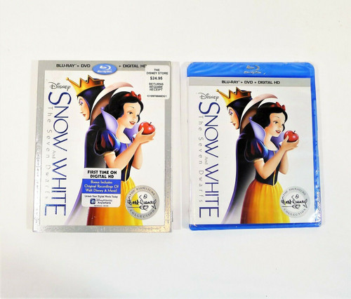 Snow White And The Seven Dwarfs Blu-Ray/DVD DIRTY SLIPCOVER - NEW SEALED