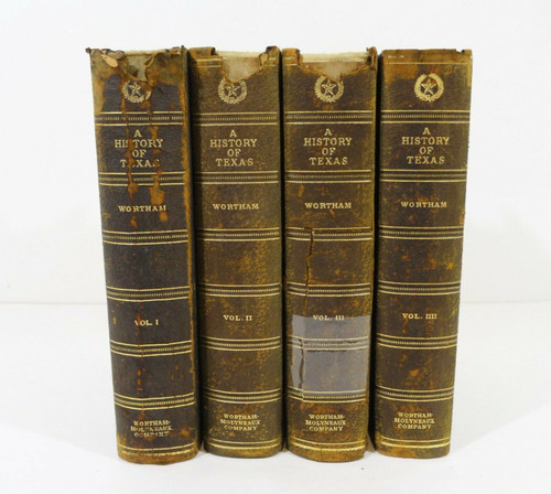 Vintage 1924 A History of Texas Wilderness to Commonwealth Volumes 1 to 4