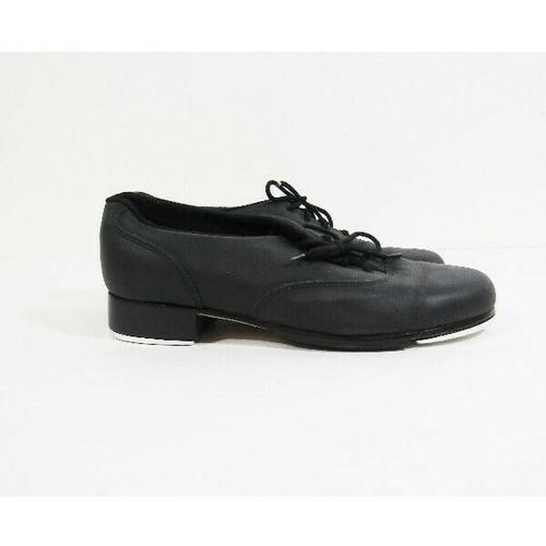 Bloch #2AT Shockwave Black Leather Lace Up Unisex Tap Dancing Shoes Size 6M