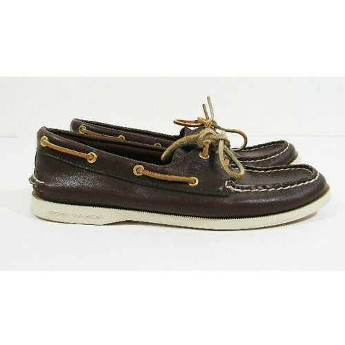 Sperry Top-Sider Brown & Tan Leather Women's Casual Slip On Shoes Size 9M