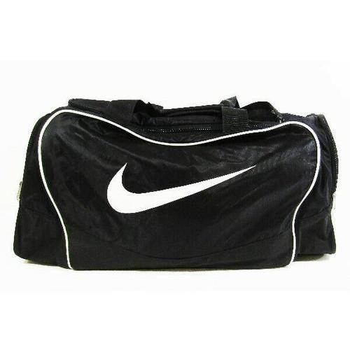 Nike Black & White Large Crossbody Duffel Bag 14x25x14