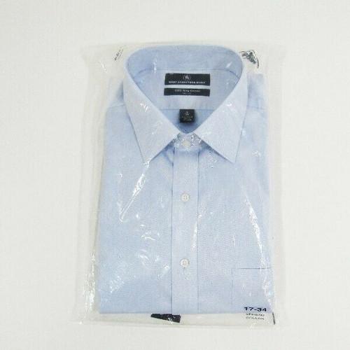 Hart Schaffner Marx Blue Pima Cotton Men's Dress Shirt NWT Size 17/34