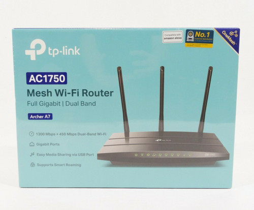 TP-Link AC1750 Smart Mesh WiFi Router (Archer A7) - Dual Band Gigabit -   NEW