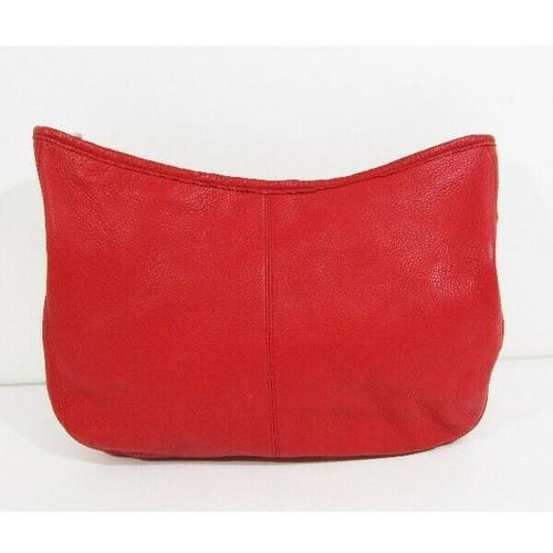 Calvin Klein Red Leather Women's Hobo Bag 13x10x4