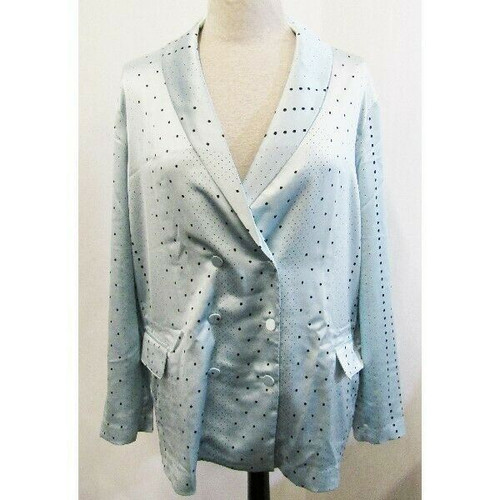 Victoria's Secret Blue Dot Women's Jacquard Styled Blazer NWT Size XL
