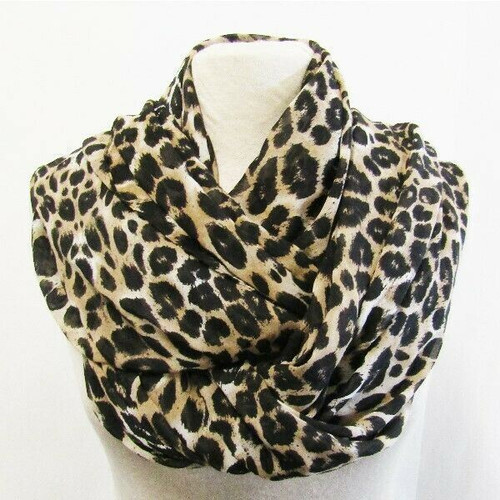 """Chico's Large Leopard Print Women's Scarf NEW WITH TAGS One Size 94"""" x 40"""""""