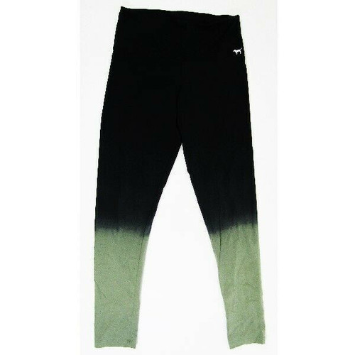 Pink by Victoria's Secret Black & Green Women's Leggings NWT Size M