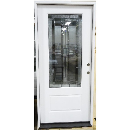 3/4 Lite Decorated Window Door