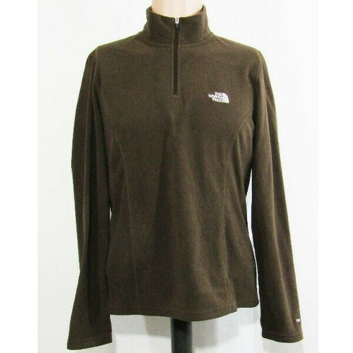 The North Face Brown Lightweight Quarter Zip Women's Pullover Sweater Size L