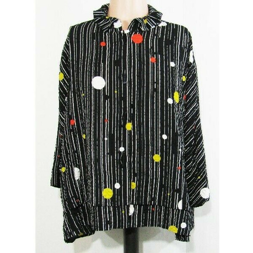 Moonlight by Y & S Fashion Multicolor Women's Blouse w/ Wire Collar NWT Size S