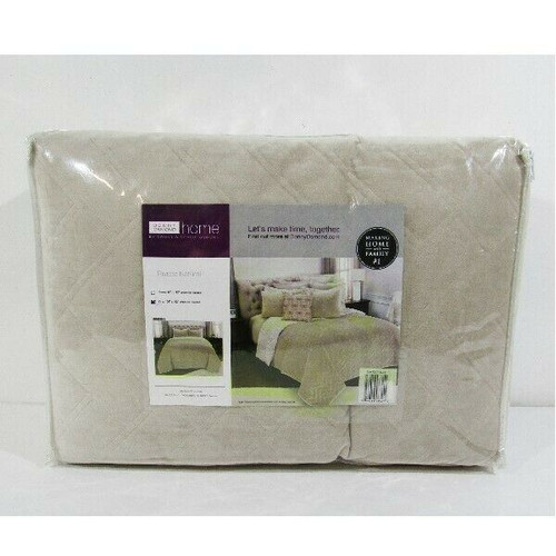 """Donny Osmond Riviera King Quilt in Natural NWT 106""""x92"""" *Shams Not Included"""