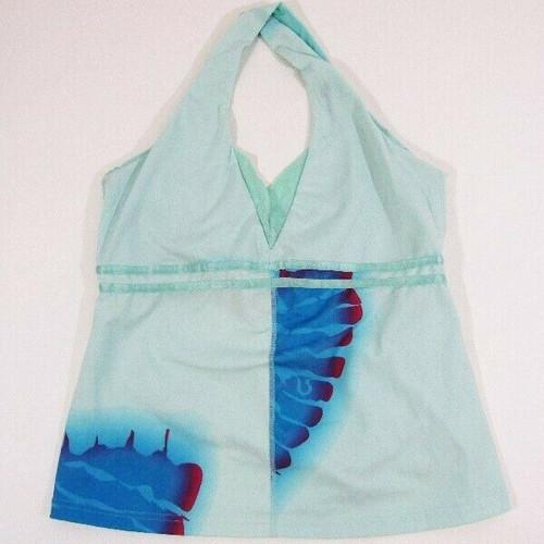 Lululemon Athletica Blue & Pink Women's Halter Tank Top Size 12