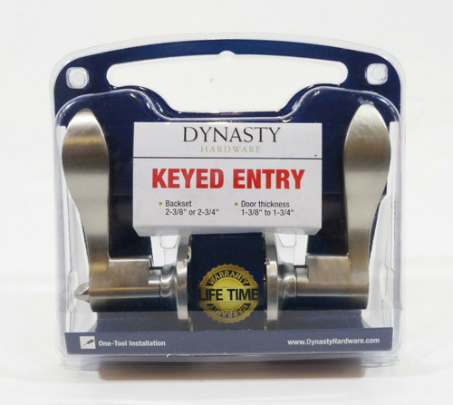 Dynasty Hardware Heritage Lever Keyed Entry Set, Satin Nickel V-HER-00-US15  NEW
