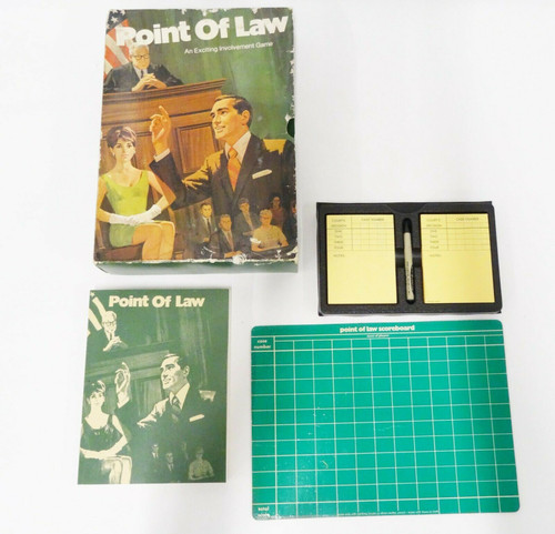 Vintage 1972 Point Of Law Involvement Game