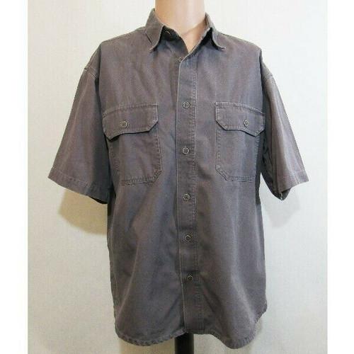 Cabela's Gray Short Sleeve Men's Button Down Shirt Size M