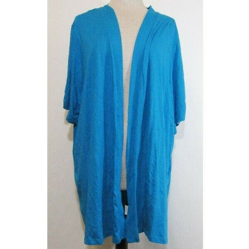 Catherine's Blue Short Sleeve Women's Cardigan New w/ Tags Size 4X