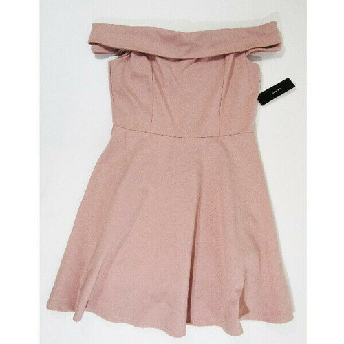 Lulus Pink Off Shoulder Women's Cocktail Dress Size L NEW WITH TAGS