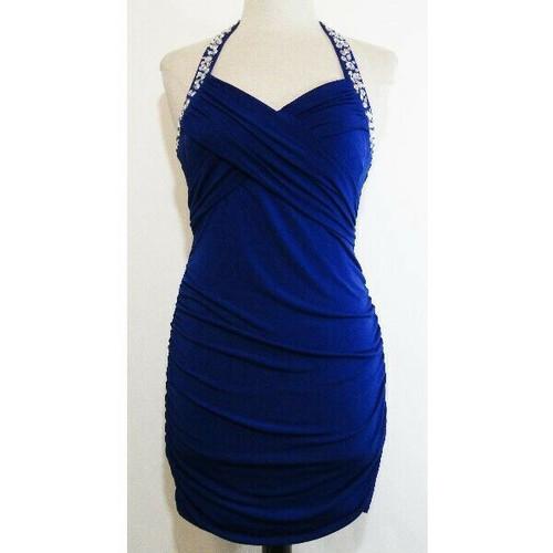 Charlotte Russe Blue Women's Sleeveless Body Contour Cocktail Dress Size L