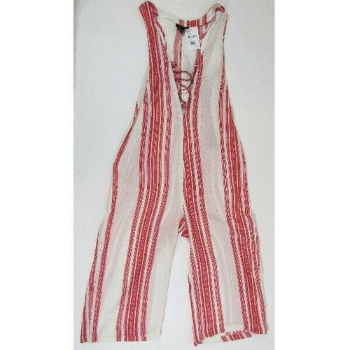 Top Shop by Nordstrom Red & White Striped Jacquard Women's Romper NWT Size 4-6