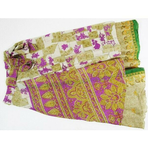 Kariza Vintage Multicolor Floral Women's Adjustable Skirt NWT One Size Fits Most