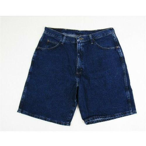 Wrangler Hemmed Dark Wash Women's Denim Bermuda Shorts Size 36