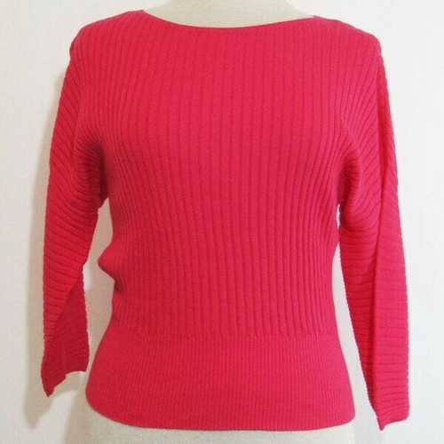 Ann Taylor Factory Hot Pink Women's 3/4 Sleeve Blouse NWT Size S Petite