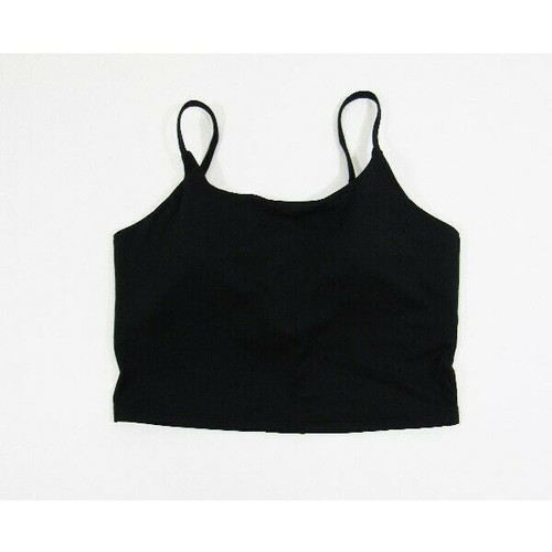 Letsfit Black Adjustable Women's Padded Crop Sports Bra NEW WITH TAGS Size M