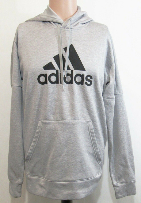 Adidas Climawarm Gray & Black Long Sleeve Men's Pullover Hoodie Size M
