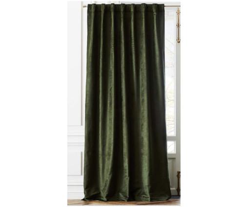 """CB2 Cotton Viscose Evergreen Panel (1) 48"""" x 108"""" - SEE DESCR."""