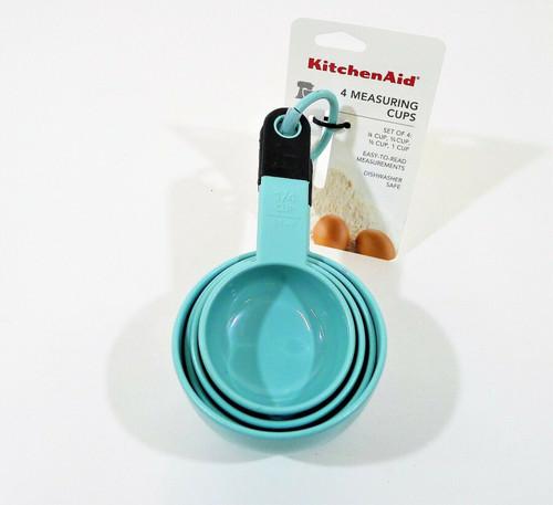 KitchenAid Aqua Sky Measuring Cup Set - NEW