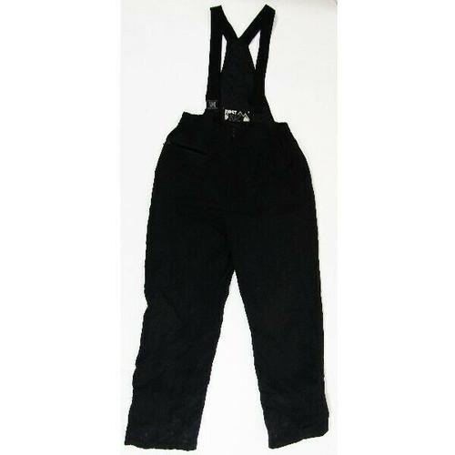First Down Black Polyester Skiing/Snowboarding Bib Size M