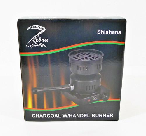 Zebra Shishana Charcoal with Handle Burner - OPEN BOX **NO COAL INLCUDED