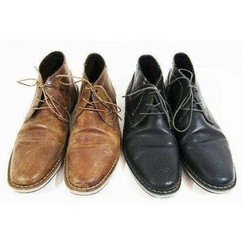 Steve Madden 2 Pairs Men's Harken Chukka Boot Black & Brown Size 10.5