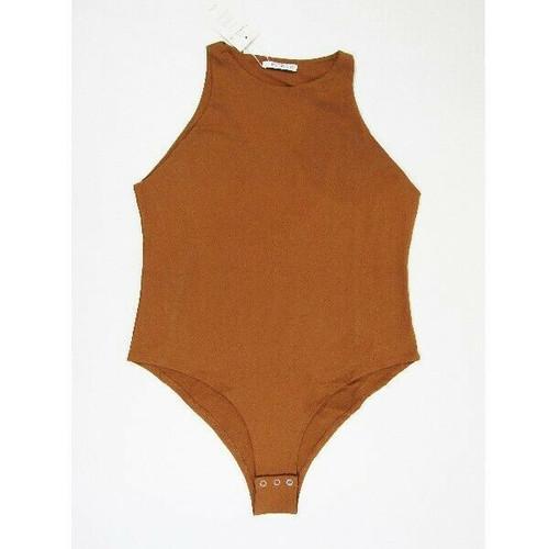 Reoria Burnt Orange Sleeveless Women's Bodysuit NWT Size XXL *Has Stain*