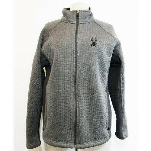 Spyder Gray Men's Fleece Lined Full Zip Jacket w/ Zip Pockets Size L