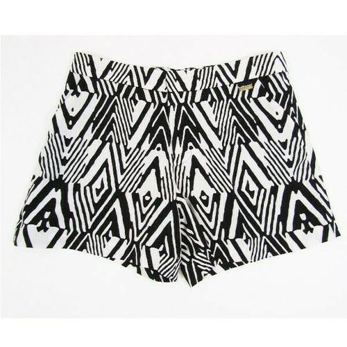 Calvin Klein Black & White Patterned Women's Shorts Size 8 **UNHEMMED BOTTOM**