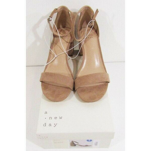 A New Day Taupe Open Toe Women's Michaela Sandals Size 7W **NEW IN BOX**