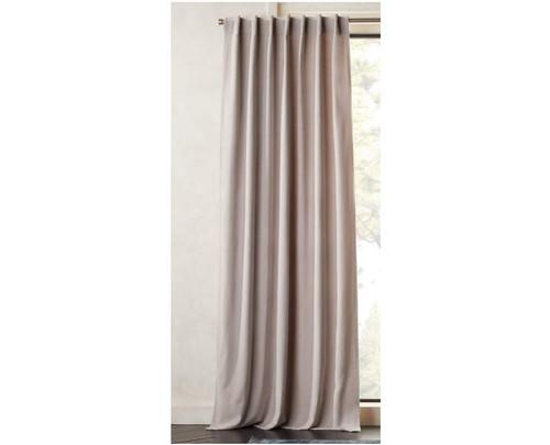 "CB2 Velvet Silver Grey Curtain Panel (1) 48"" x 96"" - SEE DESCRIPTION"