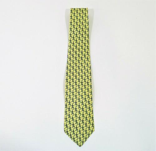 Old Navy Men's Yellow Gecko Silk Neck Tie