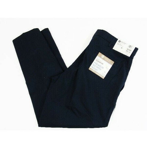 Haggar Clothing Co. Navy Blue Men's Classic Fit Dress Pants NWT Size 34W x 29L