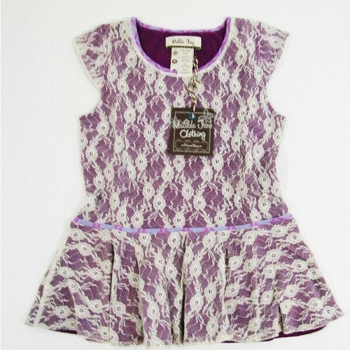 Matilda Jane Girls Purple & Lace Sleeveless Blouse Size Youth 4 NEW IN PACKAGE