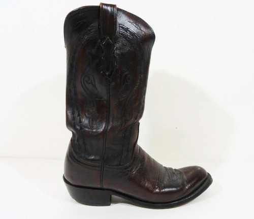 Single Boot* Right-Foot Only* Lucchese 1883 Men's Blackcherry Boot Size 9D N1618