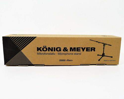 K&M Konig & Meyer 25950 Extra Low Profile Tripod Base Boom Mic Stand - OPEN BOX