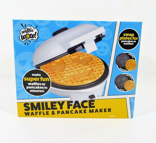 Cucina Pro Smiley Face Waffle and Pancake Maker - NEW