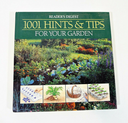 """1001 Hints & Tips For Your Garden Hardback Book  10.25"""" x 10.25"""""""