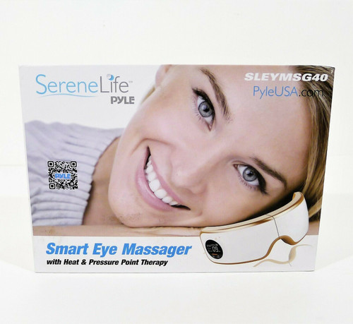 SereneLife Smart Eye Massager with Heat & Pressure Point Therapy SLEYMSG40 - NEW