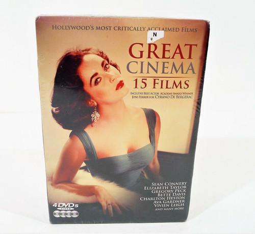 Great Cinema 15 Films 4 DVD Set - NEW SEALED