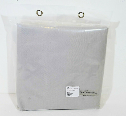 """CB2 Gray Polyester Outside ESO Breton Chair Cover 35"""" W x 31"""" D x 21""""/36"""" H NEW"""